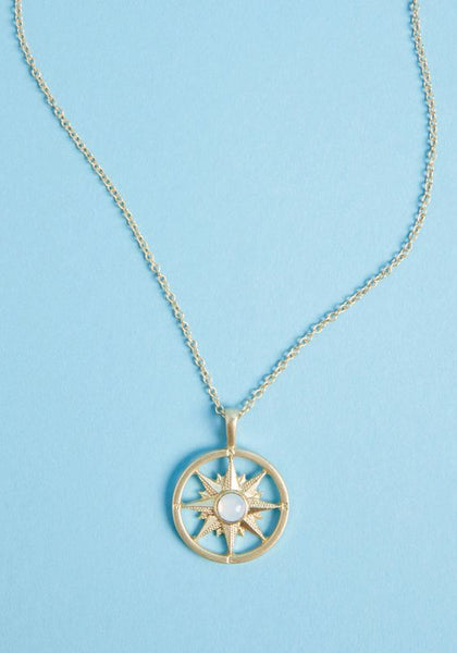 Let this compass necklace guide your style to adventurous destinations! A ModCloth exclusive