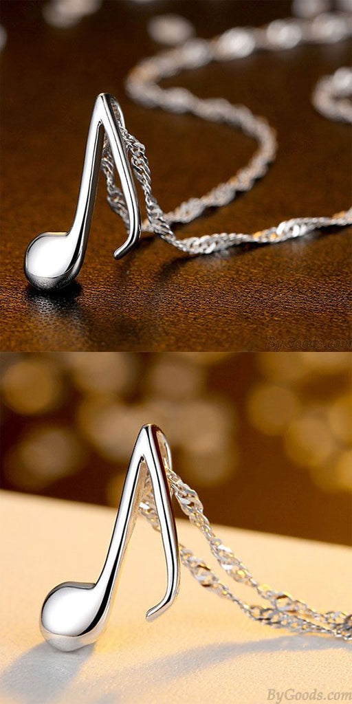Sweet Music Note Shape Pendant necklace