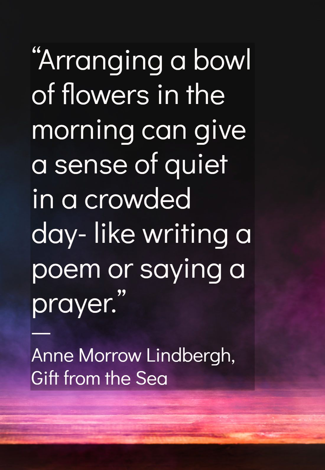 A Gift From The Sea Quotes