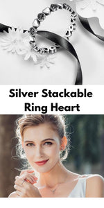 Silver Stackable Ring Heart