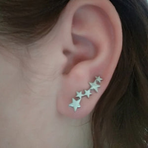 Flower Crystals Stud Earring for Women