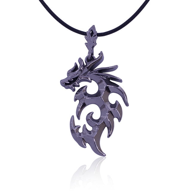 Trendy Brave Man Flame Dragon Necklace