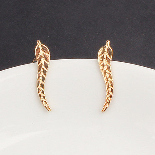 Leaf Earrings Modern Beautiful
