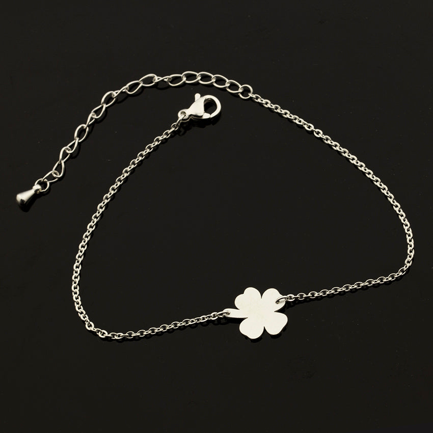 4-Leaf Clover Irish Good Luck Bracelet