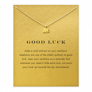 Good Luck Elephant pendant charm necklace
