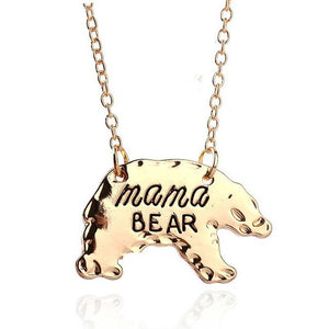 Gold Silver Tone Personalized  Mama Bear Necklace