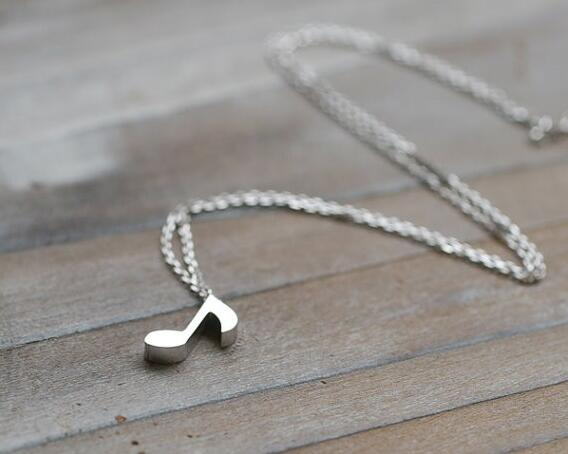 Musical Note Pendant Necklace