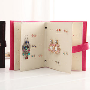 Jewelry Boxes And Packaging Pu Leather Stud Earrings Collection Book