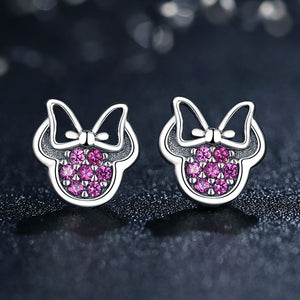 Adorable Sterling Silver Mickey Mouse shaped earrings