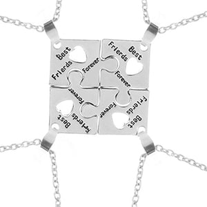 3 Style BFF Necklaces For 4 best friends forever Puzzle charm Necklace