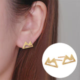 Fashion Snow Mountain Jewelry Earrings
