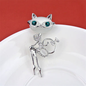 Cat Women Hats Scarf Suit Brooch Clothing Buckles Pins