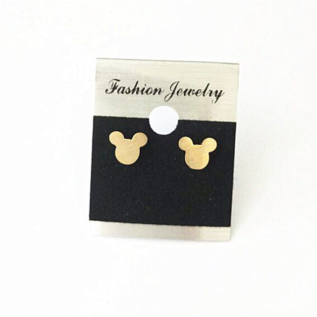 Classic Earrings Cute Tiny Cartoon Mouse Head Fashion Jewelry