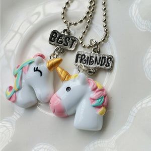 Cute Unicorn Friendship Necklace