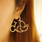 Stunning Mickey Hoop Earrings