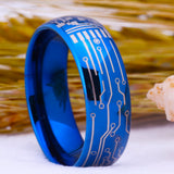Blue Color Tungsten Ring