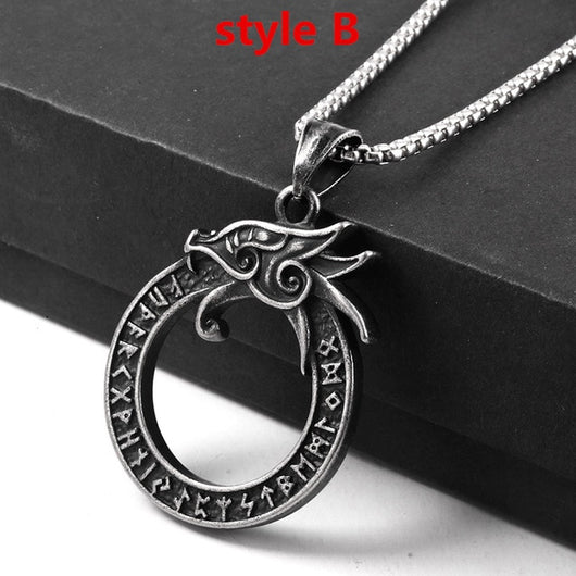 Dragon necklace round shaped For men
