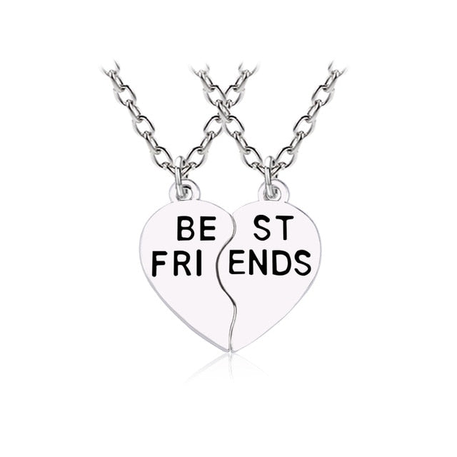 Lovely Best Friends Necklace - Two Pieces