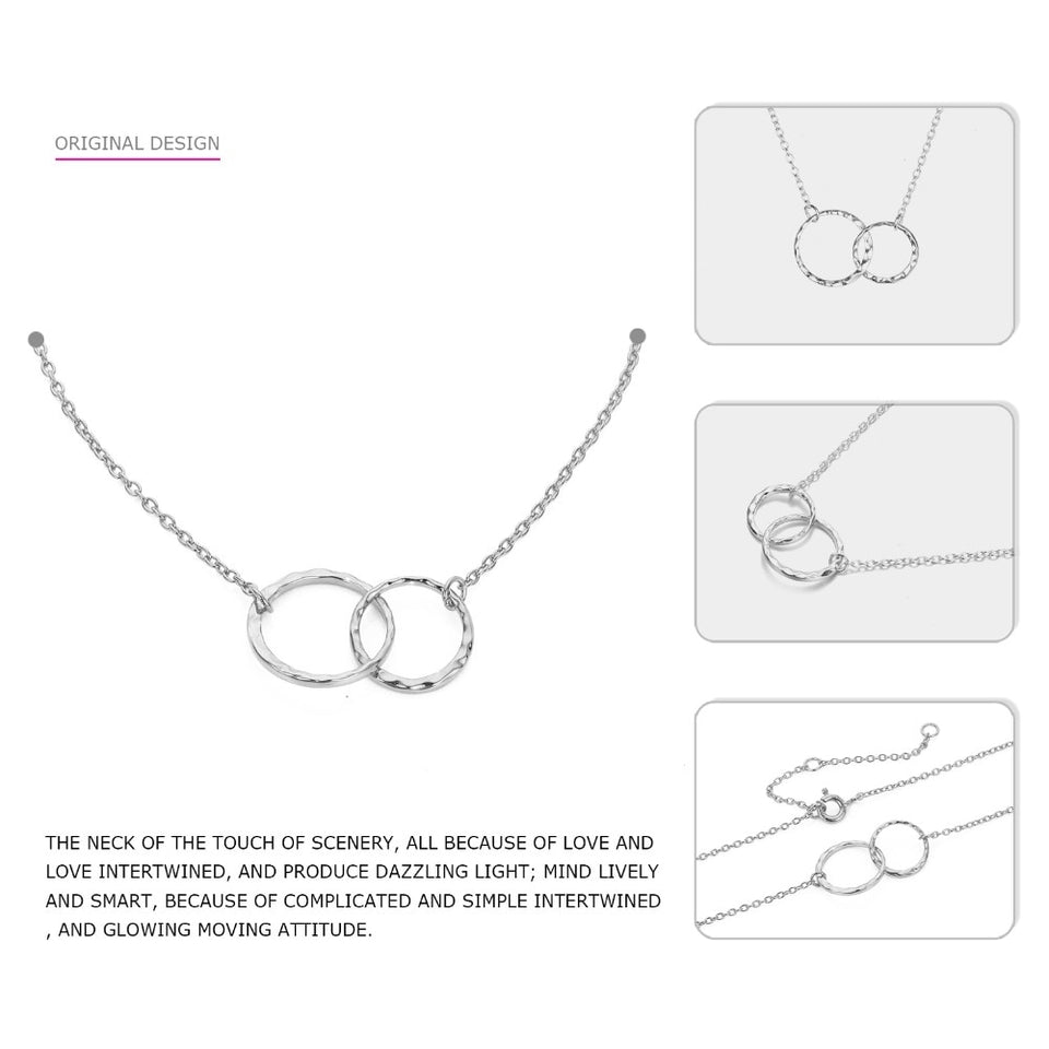 Crossed Double Circle Necklace