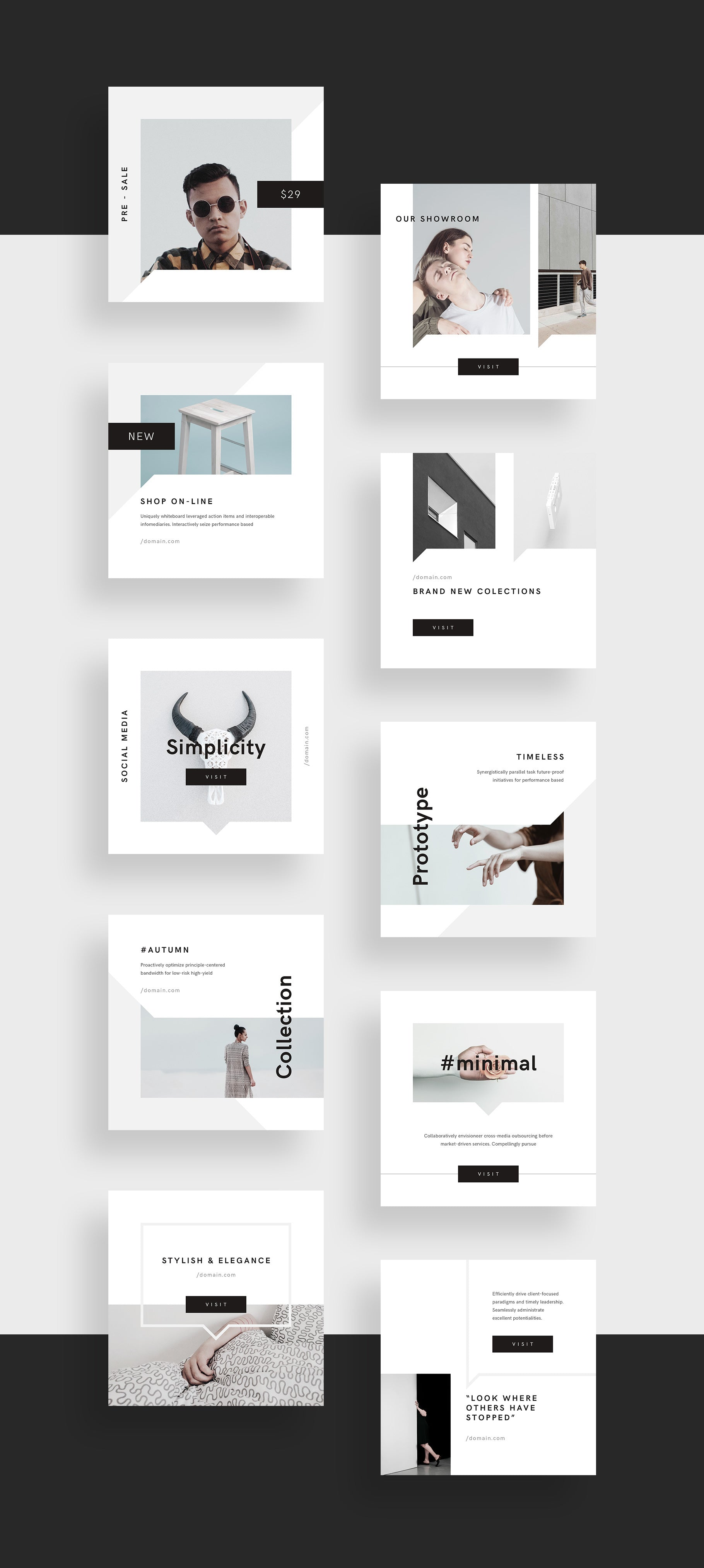 Minimal Social Media Pack by GoaShape