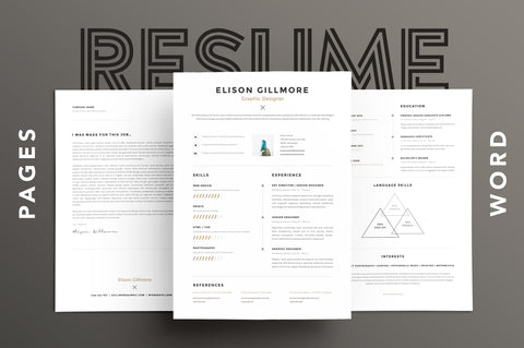 Unique Resume CV for Pages and Word Resume Template GoaShape
