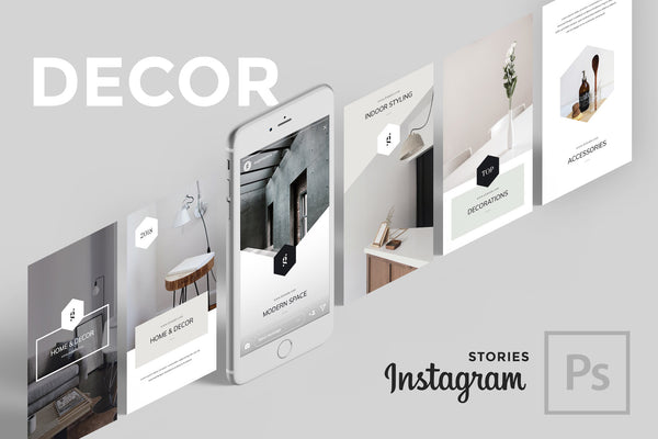 Decor PSD Instagram Stories Social Media Pack GoaShape