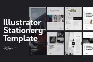 Nano Illustrator Stationery Template Illustrator Stationery Template GoaShape