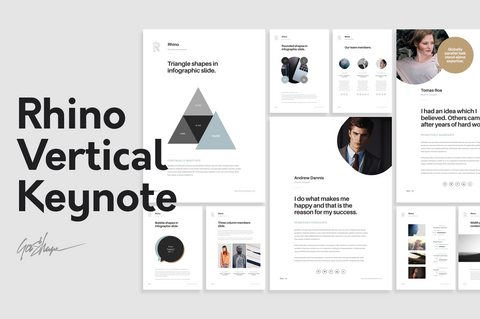 Rhino Vertical Stationery Keynote Template Presentation Template GoaShape