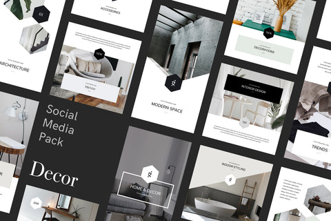Decor Canva Social Media Pack Social Media Pack GoaShape