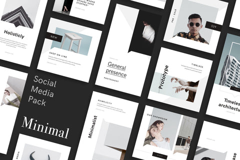 Minimal Social Media Pack for Canva Social Media Pack GoaShape