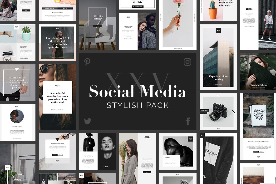 Stylish PSD Social Media Pack Social Media Pack GoaShape