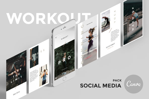 Workout Canva Social Media Pack by GoaShape