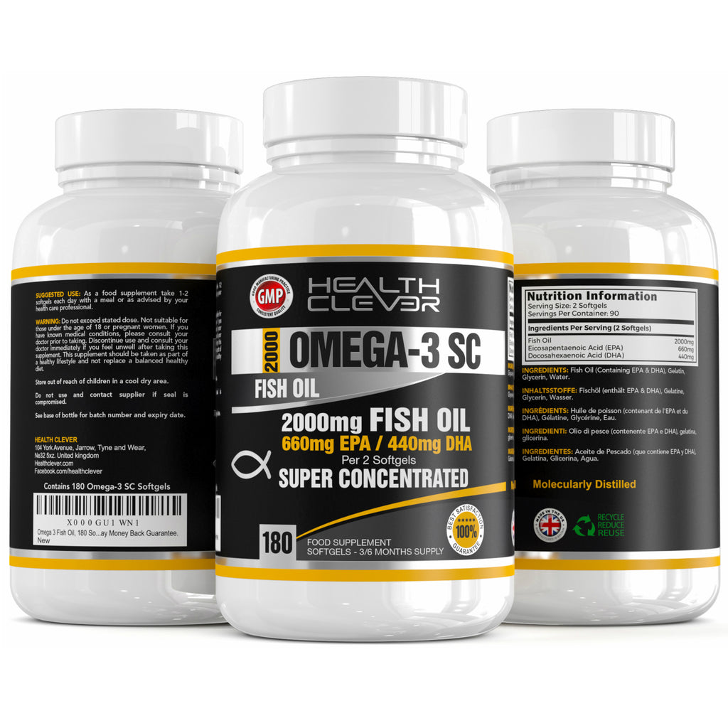 Omega-3 SC Fish Oil - Real Triple Strength