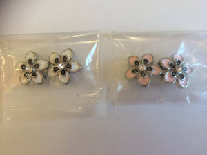 Flower Mini Snap Button Sets for Earrings