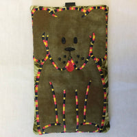 Fabric Embroidered Sunglass Case - Puppy Pals