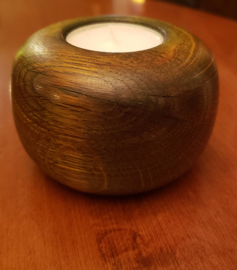 Red Oak Tealight Holder