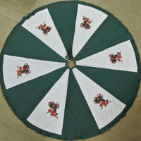 Christmas Tree Skirt Green and White