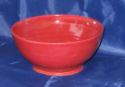 Red Pottery Serving Bowl