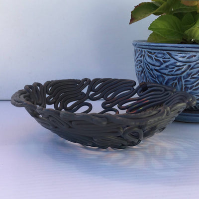 Recycled Heavy Plastic Decorative Fluted Bowls