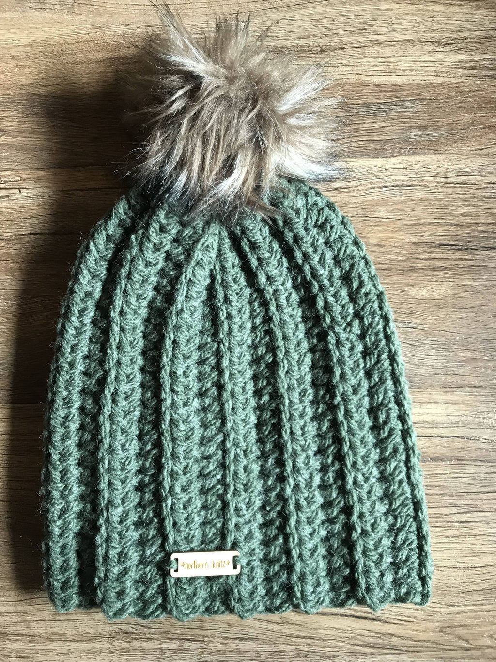 Crochet Ribbed Adult toque