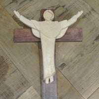 Hand-Carved Wood Cross