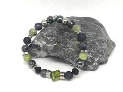 Natural Gemstone and Swarovski Crystal Bracelet