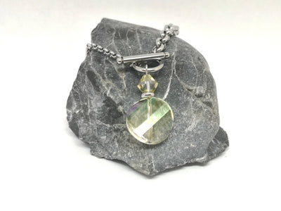 Multi-Faceted Swarovski Crystal Pendant Necklace
