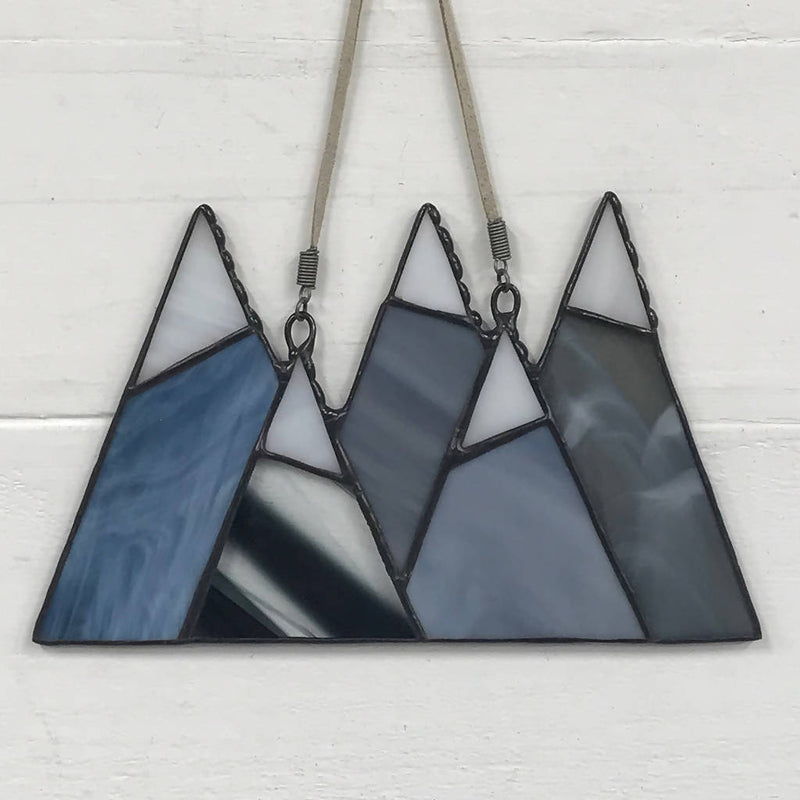 Stained Glass Mountain Suncatcher