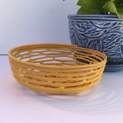 Recycled Plastic Decorative Shallow Baskets X-Small