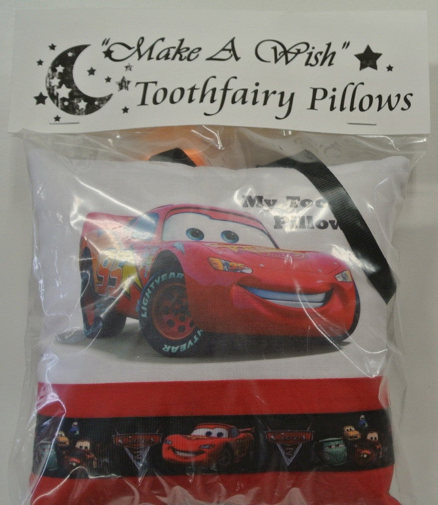 "Cars Lightening McQueen - ""Make A Wish"" Tooth-fairy Pillow"