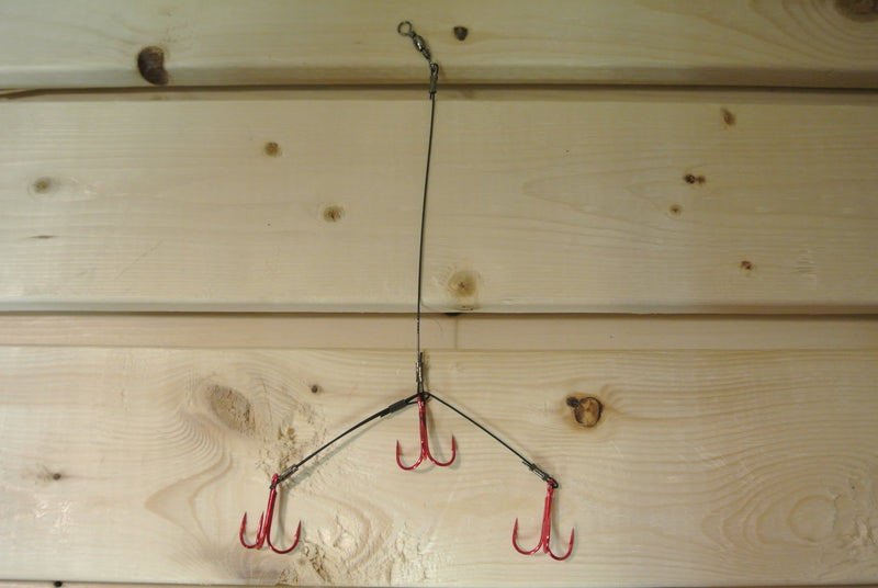 Red 3-Treble Fishing Rig