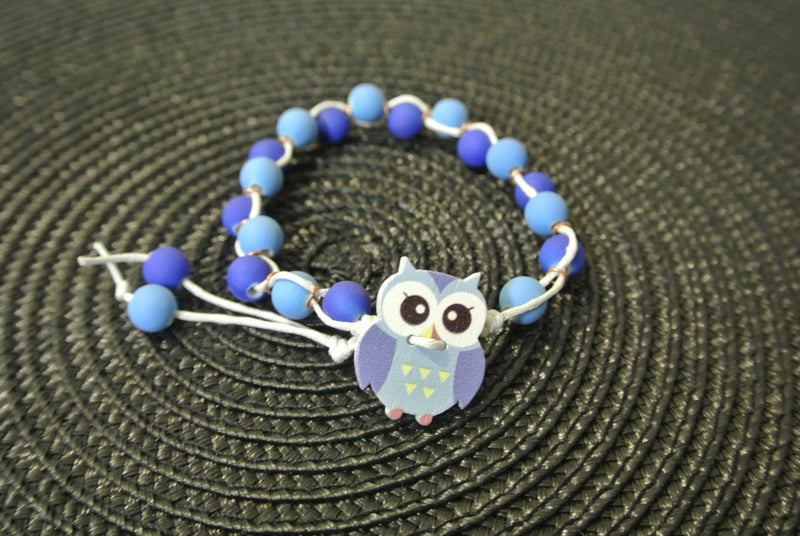 Two-Tone Blue Kids Beaded Bracelet