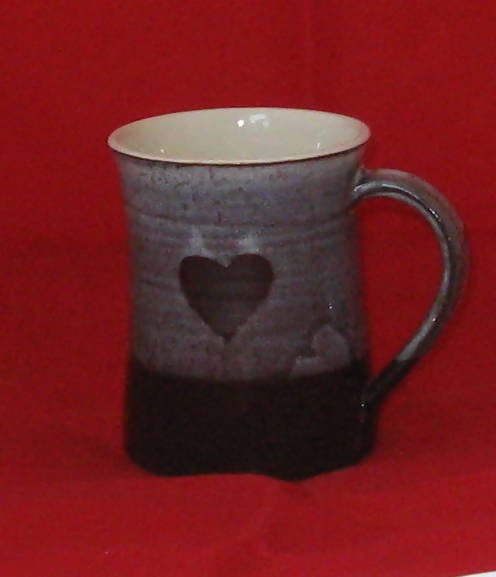 Pottery Coffee Mug with Heart