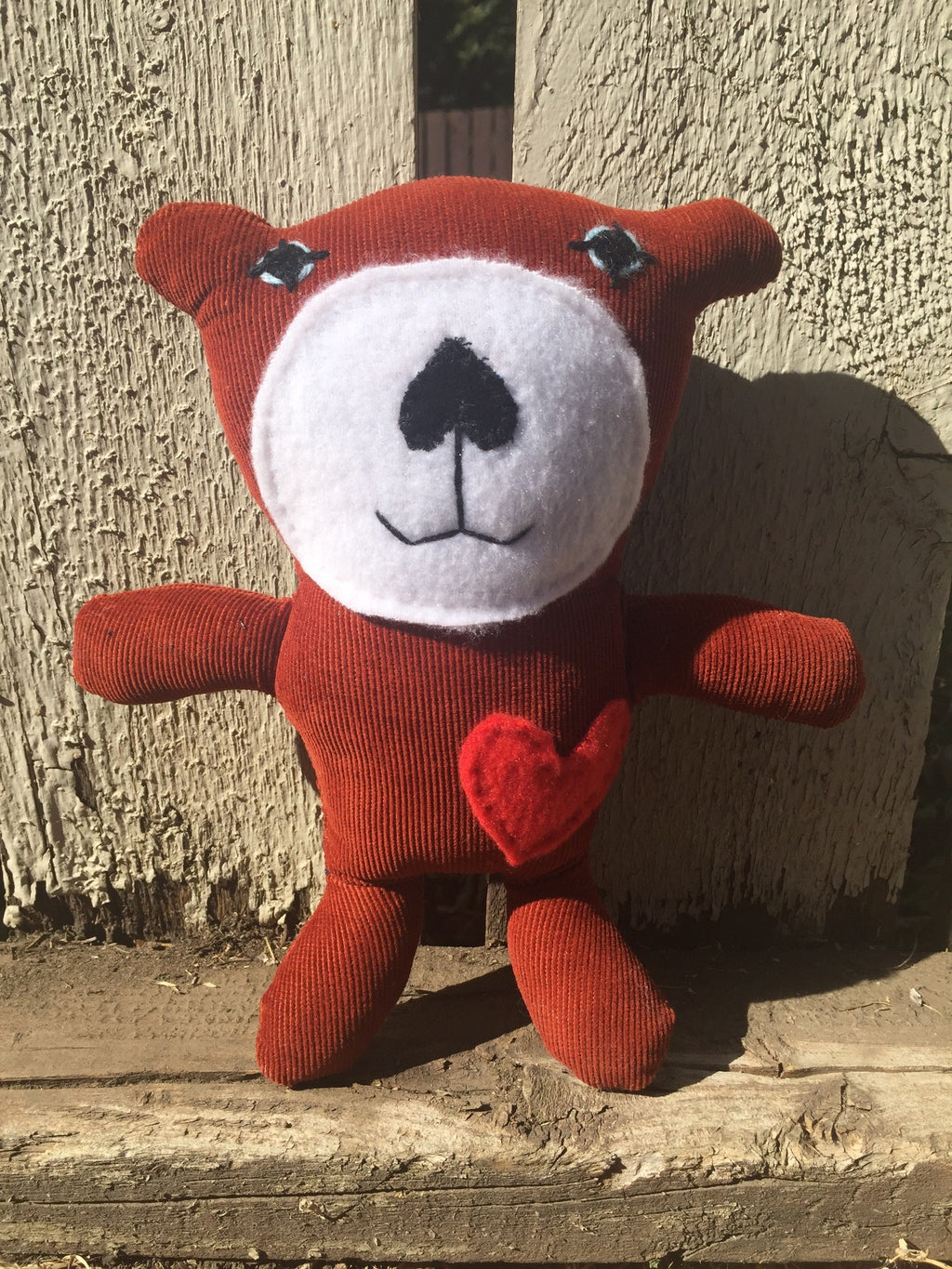 Rusty Brown Hand Stuffed Bear